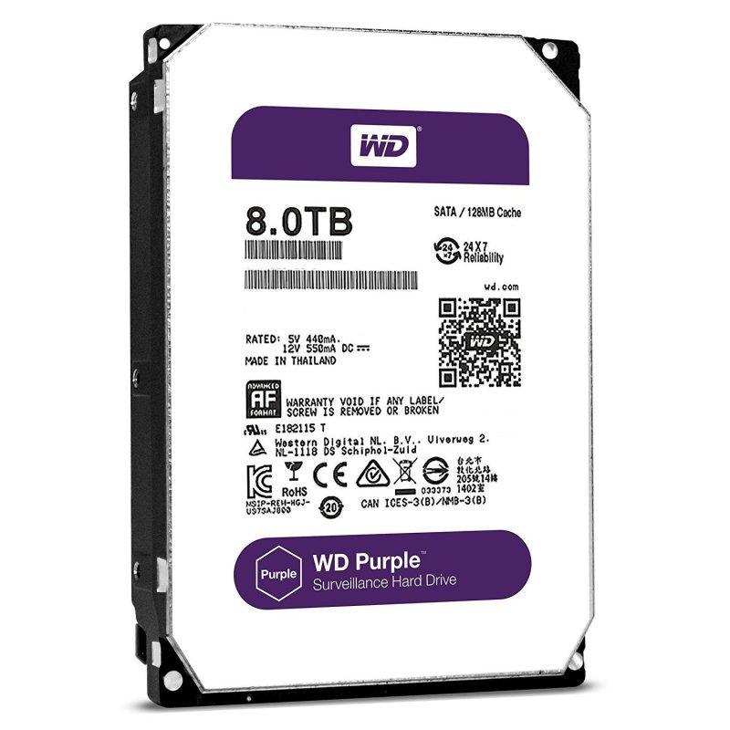 WD Purple 8TB Surveillance Hard Disk Drive - WD80PURZ