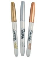 Sharpie Metallic Gold, Silver and Bronze - 3 Pack