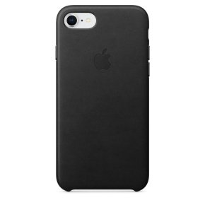 Apple iPhone 7 8 Plus Leather Case - Black