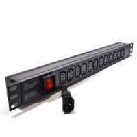 Dynamode 1U 12 Way Horizontal 10A IEC PDU