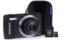PRAKTICA Luxmedia Z212 Black Camera Kit inc 16GB MicroSD Card & Case