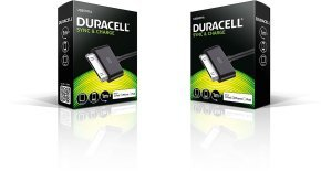 Duracell Apple 30 Pin Sync & Charge Cbl - Duracell