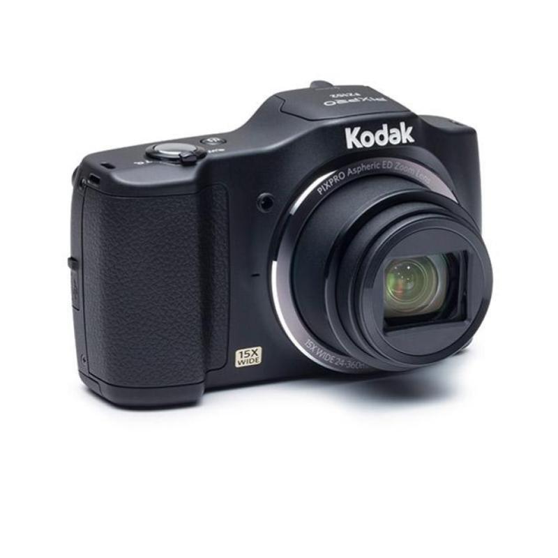 Image of Kodak PIXPRO FZ152 Camera 16MP 15xZoom 3.0LCD 24mm Wide Lens OIS HD Black