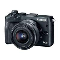 Canon EOS M6 - Digital camera - mirrorless - 24.2 MP - APS-C - 1080p / 60 fps - 3x optical zoom EF-M 15-45mm IS lens - Wi-Fi, NFC, Bluetooth - Black + 32GB SD Card and Case