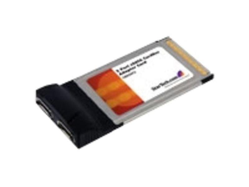 Image of StarTech.com 2 Port CardBus eSATA Laptop Controller Adapter Card