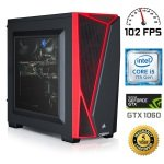 £799.91, Chillblast Fusion Dead Eye 1060 Gaming PC, Intel Core i5-7400 up to 3.5GHz, 8GB DDR4 + 2TB HDD, NVIDIA GeForce GTX 1060 3GB, WIFI + Windows 10 Home 64bit, 5 Year Standard Warranty,