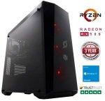 £799.97, Stormforce Onyx Gaming PC, AMD Ryzen 5 1400 3.2GHz, 8GB RAM + 1TB HDD, AMD Radeon RX 580 8GB, Windows 10 Home, 3 Year Warranty,