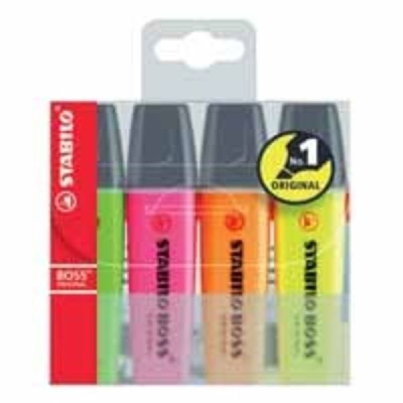 Stabilo Boss Highlighter Pens - 4 Pack