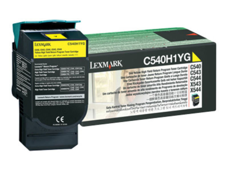 Lexmark C540H High Yield yellow Toner cartridge  2000 pages