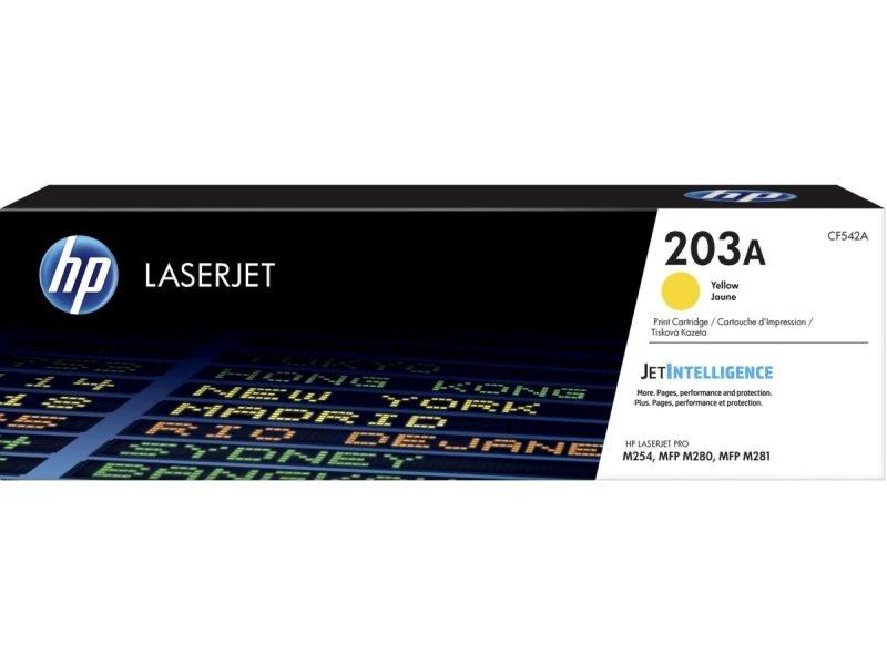 HP 203A Original Yellow LaserJet Toner Cartridge CF542A