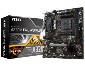 MSI A320M PRO-VD PLUS Socket AM4 DDR4 mATX Motherboard...