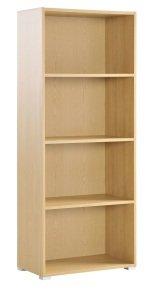 Urban Home Office Medium Bookcase - 2 Shelves 1276mm High - Blonde Oak