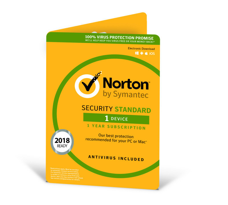 Norton Security Standard 3.0- 1 User 1 Device 12 months - Electronic Software Download