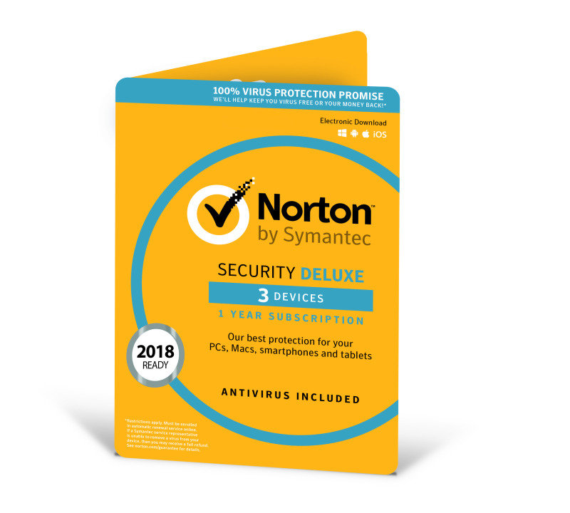 Norton Security Deluxe (v. 3.0) - Subscription Licence (1 year) - 3 Devices