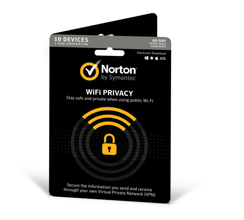 Norton Wifi Privacy (v. 1.0) 1 Year Subscription 10 Devices - Electronic Software Download