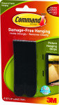 3M Command Large Picture Hanging Strips-  Black (Pack of 4) 17206BLK