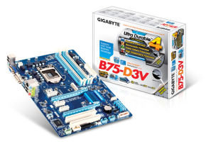 Gigabyte GA-B75-D3V Socket 1155 VGA DVI 8 Channel Audio ATX Motherboard