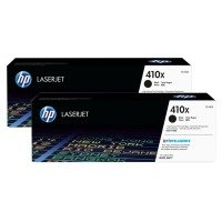HP 410X High Yield Toner Cartridge - Black - Dual Pack