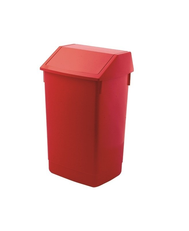 Addis 60 Litre Fliptop Bin-  Red-  AG813421