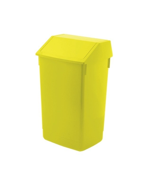 Addis 60 Litre Fliptop Bin -Yellow - AG813423