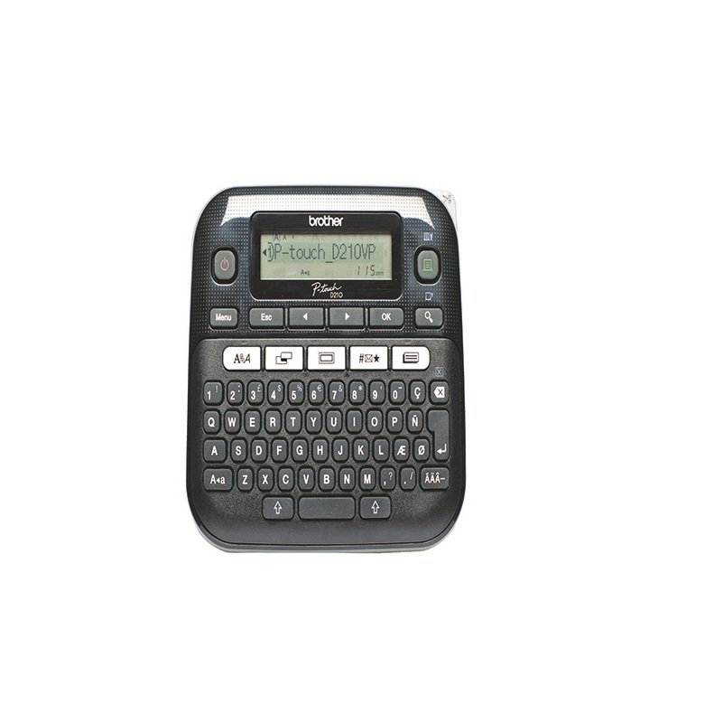 Brother P-Touch PT-D210VP Desktop Label Printer Black - PTD210V