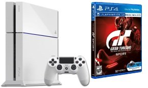 Sony White PS4 500GB with GT Sport
