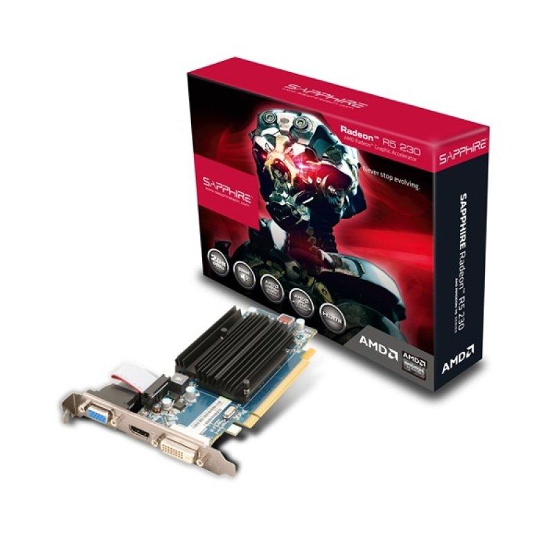 EXDISPLAY Sapphire Radeon R5 230 2GB DDR3 VGA DVI HDMI PCI-E Graphics Card