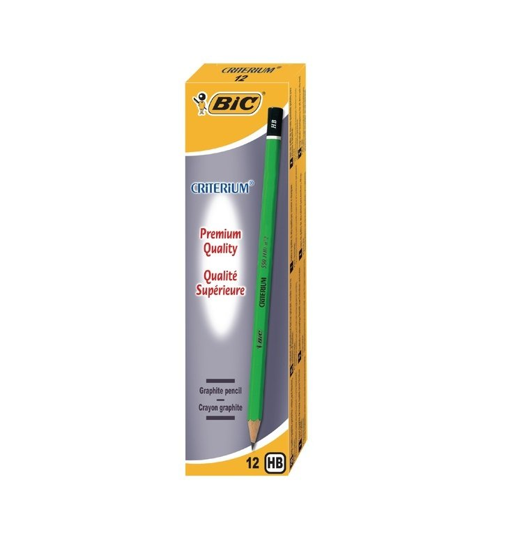 Bic Criterium Graphite HB Pencil (2 Packs of 12) - 857595