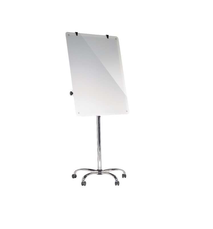 Bi-Office Magnetic Glass Mobile Easel W700xH1000mm GEA4850116