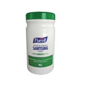 Purell Hand and Surface Sanitising Wipes Pack Of 200 92106-06-EEU
