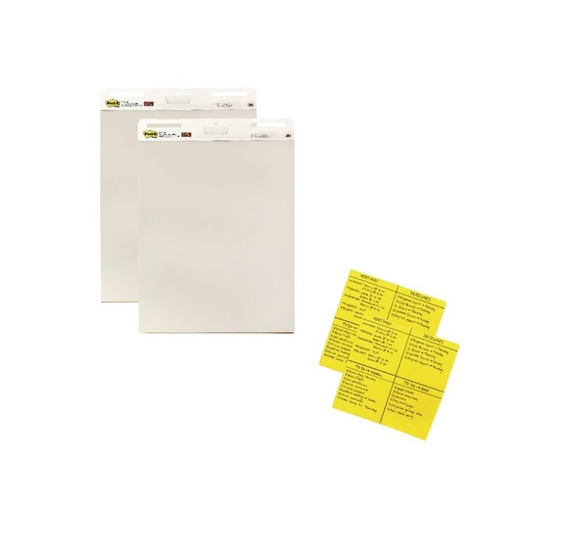 Post-it A1 Meeting Chart 775x635mm (2 Packs of 2) with SS Notes Free 3M811281