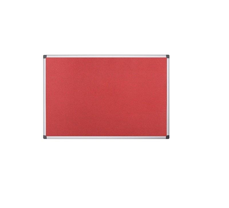 Image of Bi-Office 1200x900mm Red Felt Board - FA0546170