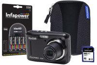 Kodak PIXPRO FZ43 Black Camera Kit inc 4x AA Batteries  8GB SD  Case & Charger