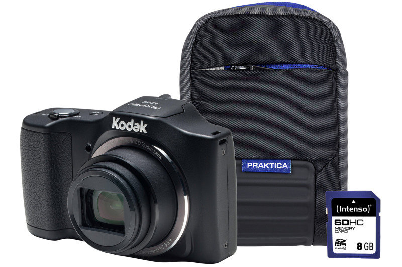 Kodak PIXPRO FZ152 Black Camera Kit inc 8GB SD Card and Case