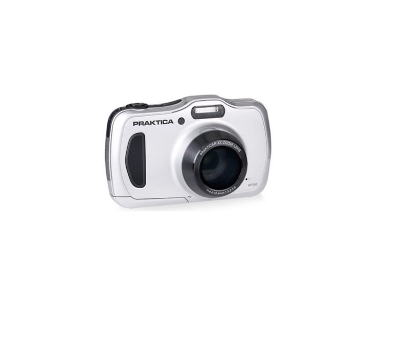 PRAKTICA Luxmedia WP240 Wtprf Silver Camera Kit inc 32GB Micro SD Card and Case