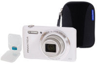 PRAKTICA Luxmedia Z212 White Camera Kit inc 32GB MicroSD Class 6 Card & Case