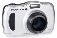 PRAKTICA Luxmedia WP240 Wtprf Silver Camera Kit inc 16GB Micro SD Card and Case