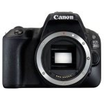 Canon EOS 200D SLR Camera Black Body Only 24.2MP FHD
