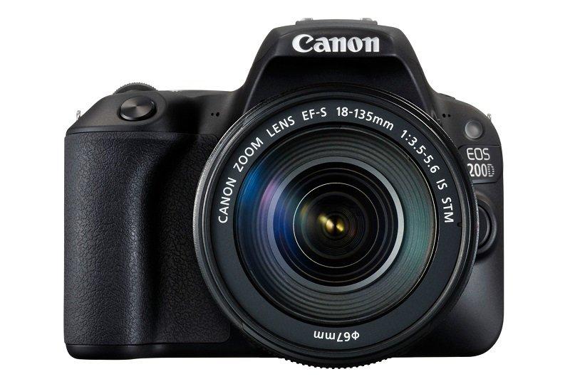 Canon EOS 200D SLR Camera Black 18-135 IS STM Black Lens