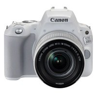 Canon EOS 200D SLR Camera White 18-55mm IS STM Silver Lens