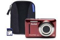 Kodak PIXPRO FZ53 Red Camera Kit inc 8GB SD Card and Case
