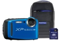 Fujifilm Finepix XP120 Blue Tough Camera Kit inc 16GB SD Card & Case