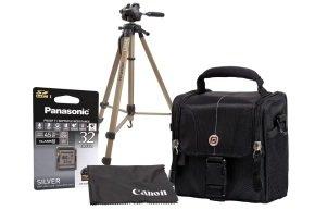 Canon Camcorder Accessory Kit - Case, 32GB SD, Full Length Tripod, Lens Cloth