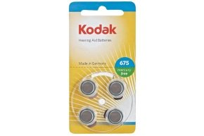 Kodak Hearing Aid Batteries Size P375 Blue - 4 Pack
