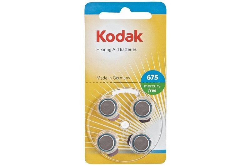 Kodak Hearing Aid Batteries Size P375 Blue - 4 Pack