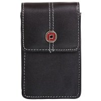 Proper Aura Black Leather Compact Digital Camera Case