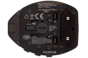 Fujifilm World Travel Adapter Dual USB 2.1 2100mA Charger - Grey Black