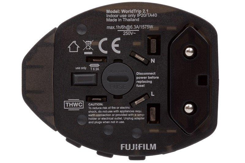 Fujifilm World Travel Adapter Dual USB 2.1 2100mA Charger - Grey Black