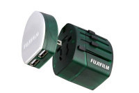 Fuji World Trip Dual USB Charger and Travel Adapter- Green