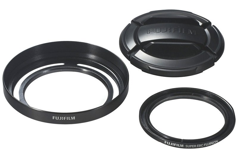 Fuji Lens Hood & Filter Kit for Finepix X30 - Black